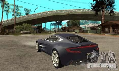 Aston Martin One-77 для GTA San Andreas вид сзади слева