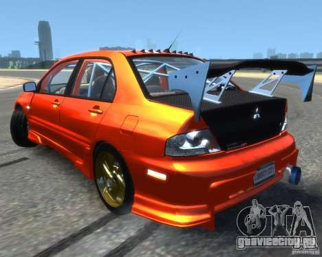 Mitsubishi Lancer Evolution IX MR для GTA 4 вид слева