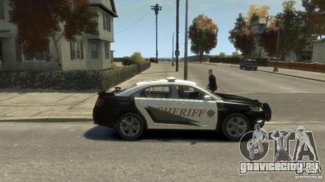 Ford Taurus Sheriff 2010 для GTA 4 вид сзади слева