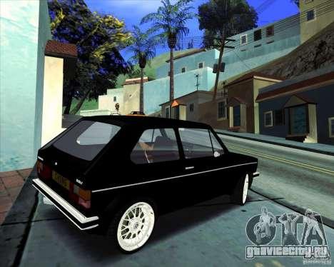 Volkswagen Golf MK 1 для GTA San Andreas вид сзади