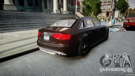 Audi S4 Unmarked [ELS] для GTA 4 вид сбоку