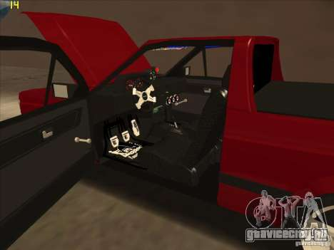 Volkswagen Saveiro Summer для GTA San Andreas вид изнутри