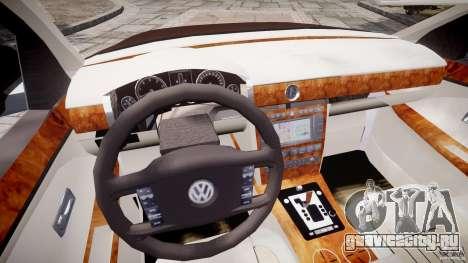 Volkswagen Phaeton W12 Long для GTA 4 вид сверху