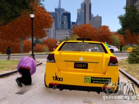 Holden NYC Taxi V.3.0 для GTA 4 вид сзади слева