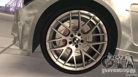BMW 1M E82 Coupe 2011 V1.0 для GTA San Andreas вид изнутри