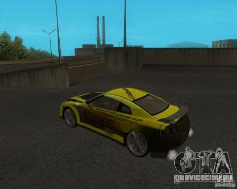 Nissan GTR35 для GTA San Andreas вид слева