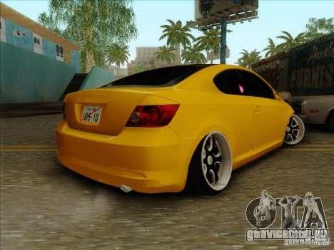 Scion tC 2012 для GTA San Andreas вид слева