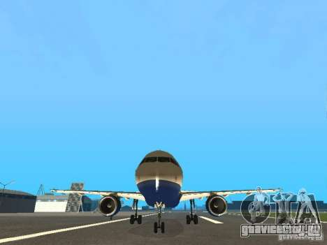 Airbus A320 British Airways для GTA San Andreas вид сзади