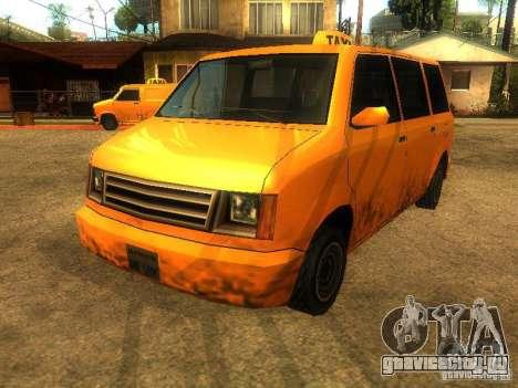 Taxi Moonbeam для GTA San Andreas вид слева