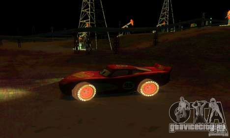 MCQUEEN from Cars для GTA San Andreas вид сбоку