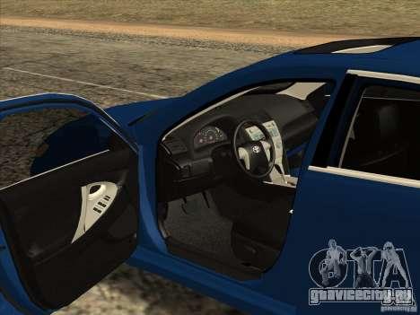 Toyota Camry для GTA San Andreas вид изнутри
