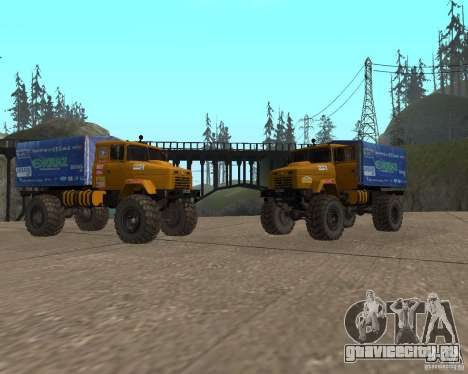 КрАЗ Monster для GTA San Andreas вид сзади слева
