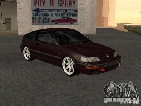 Honda Civic CRX JDM для GTA San Andreas вид справа