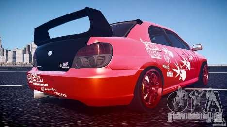 Subaru Impreza WRX STI для GTA 4 вид снизу