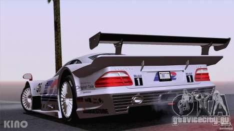 Mercedes-Benz CLK GTR Road Carbon Spoiler для GTA San Andreas вид сверху