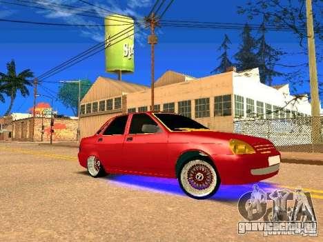ВАЗ 2170 Приора Gold Edition для GTA San Andreas вид сверху