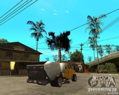 Уборочный грузовик для GTA San Andreas вид сзади слева