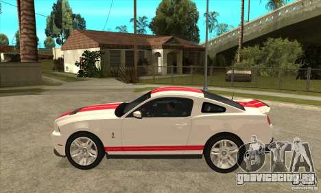 Ford Mustang Shelby GT500 2011 для GTA San Andreas вид сзади слева
