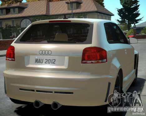 Audi S3 v2.0 для GTA 4 вид справа