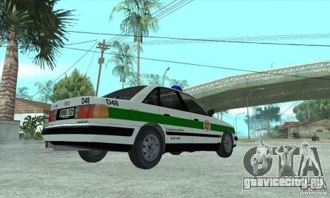 Audi 100 C4 (Cop) для GTA San Andreas вид слева