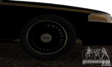 Ford Crown Victoria Alaska Police для GTA San Andreas вид справа