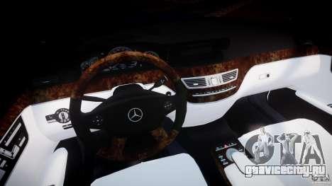 Mercedes-Benz S600 w221 для GTA 4 вид сзади