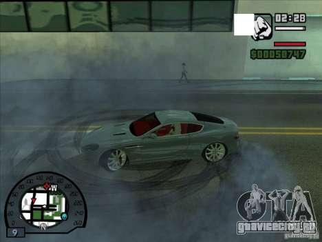 Дым из под колес, как в NFS ProStreet для GTA San Andreas