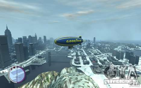 Дирижабль для GTA 4 вид сверху