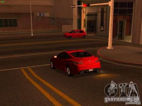 Hyundai Genesis Coupé 3.8 Track V1.0 для GTA San Andreas вид изнутри