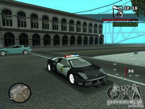 Lamborghini Murcielago Police для GTA San Andreas вид сбоку