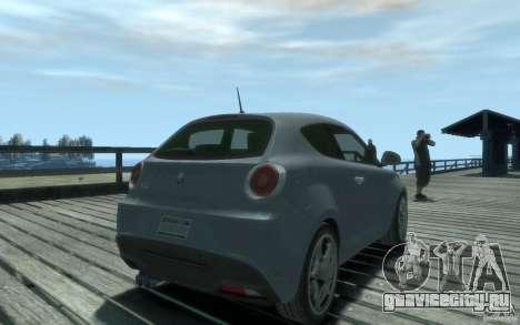 Alfa Romeo Mito для GTA 4 вид слева