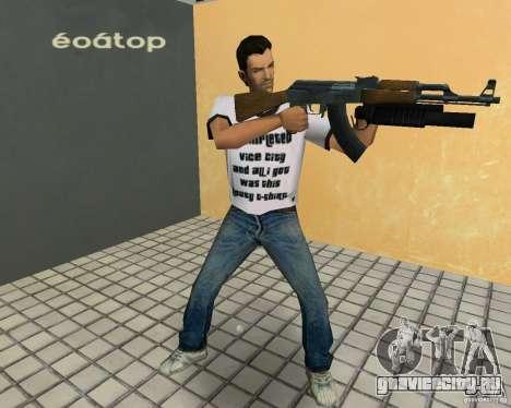 АК-47 с гранатометом М203 для GTA Vice City четвёртый скриншот