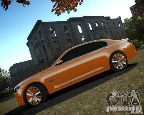 BMW 750Li  2010 для GTA 4 вид изнутри
