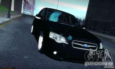 Subaru Legacy BIT edition 2004 для GTA San Andreas вид изнутри