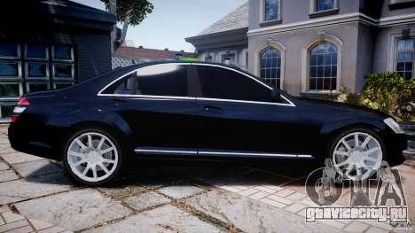 Mercedes-Benz S600 w221 для GTA 4 вид слева