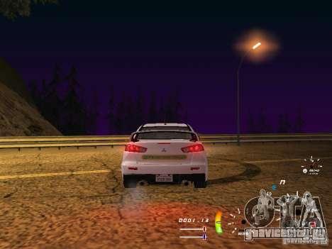 Mitsubishi Lancer Evolution X ДПС для GTA San Andreas вид справа