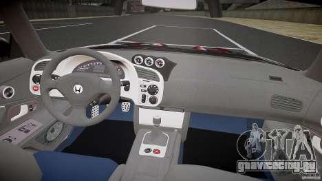 Honda S2000 Tuning 2002 Skin 2 для отжигов для GTA 4 вид справа