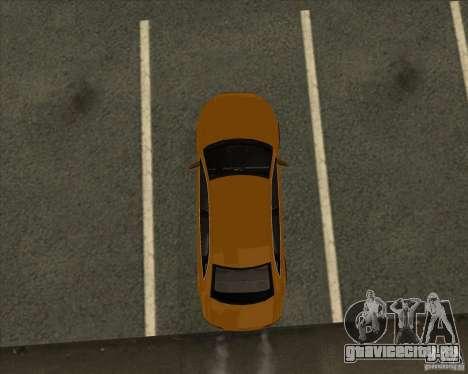 AUDI S4 Sport для GTA San Andreas вид снизу