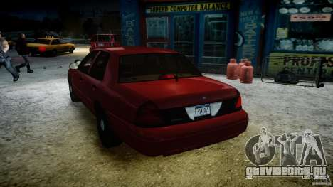 Ford Crown Victoria Detective v4.7 red lights для GTA 4 салон