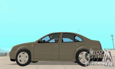 Volkswagen Bora Stock для GTA San Andreas вид сзади слева