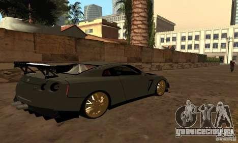 Nissan GTR R35 Tuning для GTA San Andreas вид слева
