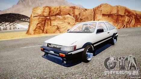 Toyota Corolla Levin AE86 v.1.0 для GTA 4