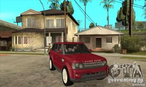 Land Rover Range Rover Sport HSE для GTA San Andreas вид сзади