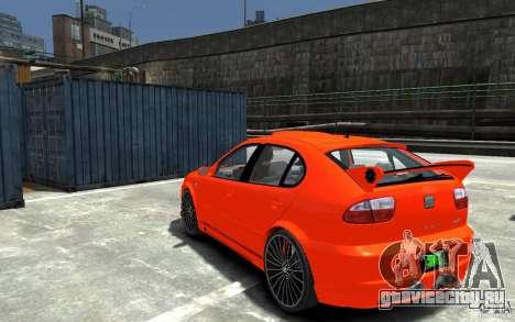 Seat Leon Cupra R для GTA 4 вид сзади слева