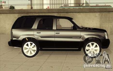 Cadillac Escalade 2004 для GTA San Andreas вид сверху