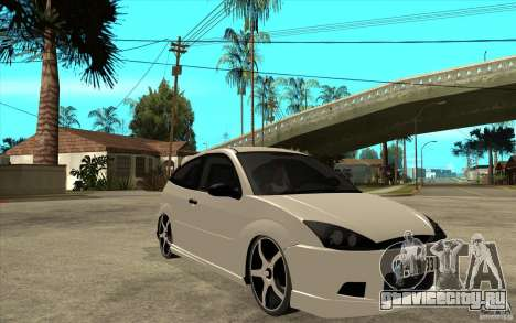 Ford Focus Coupe Tuning для GTA San Andreas вид сзади
