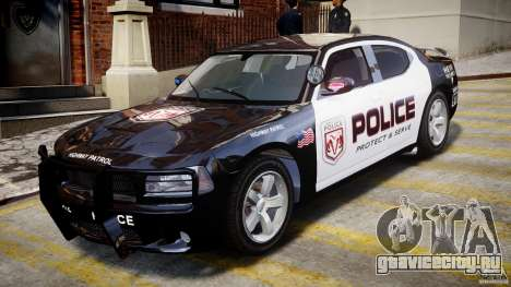 Dodge Charger NYPD Police v1.3 для GTA 4 вид слева