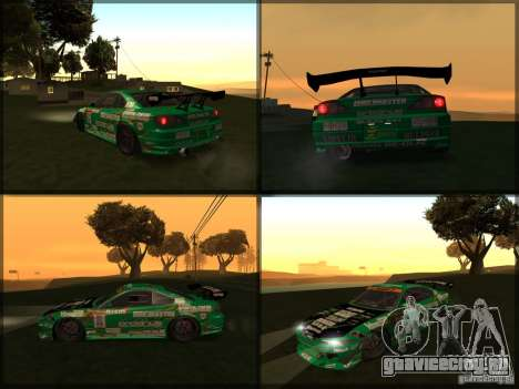 Nissan Silvia S15: Kei Office D1GP для GTA San Andreas вид сзади слева