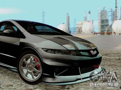 Honda Civic TypeR Mugen 2010 для GTA San Andreas вид изнутри