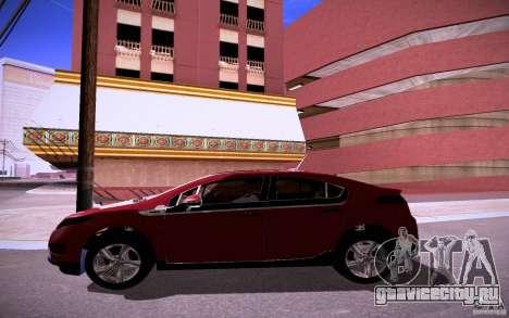 Chevrolet Volt для GTA San Andreas вид изнутри